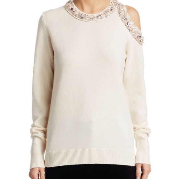 b707971aaa43e5 3.1 Phillip Lim cream cold shoulder sweater